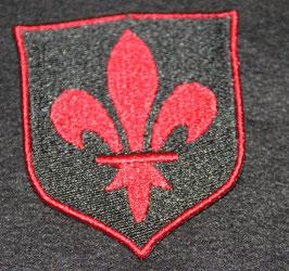 Wappen Fleur de Lys in rot klein