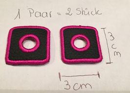 ösen für Kordeln aus Lederimitat Einzelösen in Pink