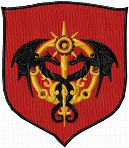 Wappen Drache doppelt bordeaux