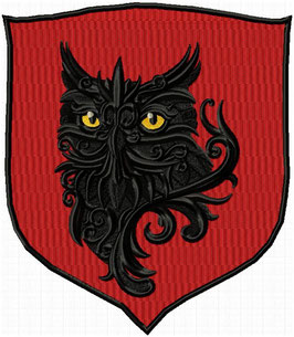 Wappen mit Eule Rot