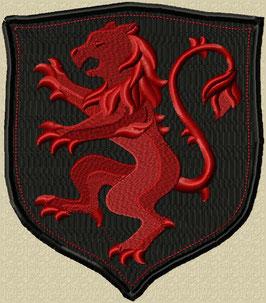 Wappen mit Löwe rot