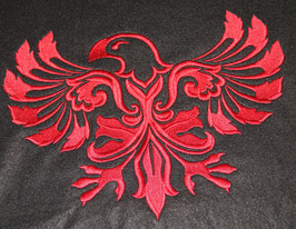 Kissenbezug Adler Damask links