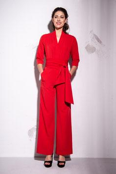 Zoe Jumpsuit Red
