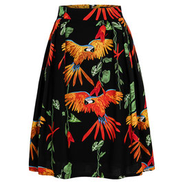 Hanna Skirt Parrots Black