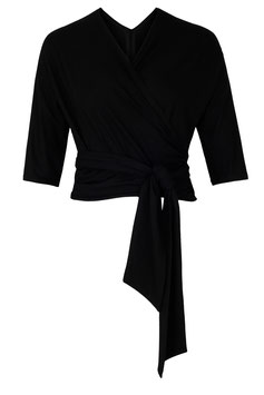 Bella Wrap Top Black