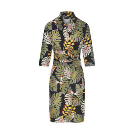Karla Dress Tropical Leaves