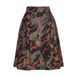 Hanna Skirt Dragons Black