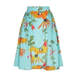 Hanna Skirt Parrots Turquoise