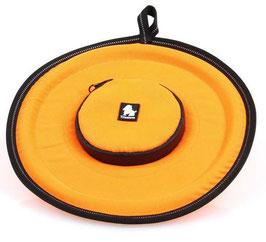 Frisbee mit integrierter Leckerlitasche