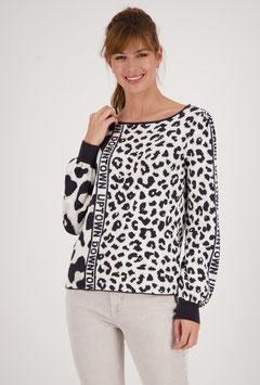 monari Jacquard Pullover im Leo-Design
