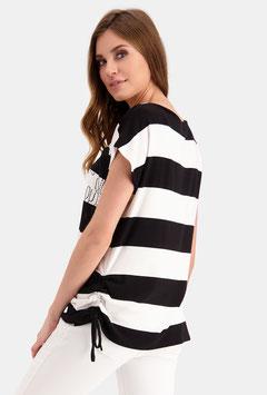 monari Gestreiftes Shirt mit Strass