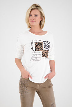 monari Offwhite Shirt mit ¾ Arm