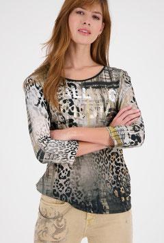 monari Mustermix-Shirt mit Lackdruck
