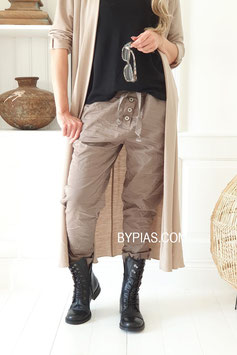 Perfect Jeans Joggers buttons taupe