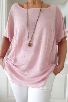 Zen Leinen-Shirt, rose