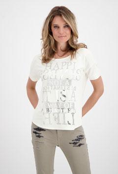 monari Jersey T-Shirt mit Schrift