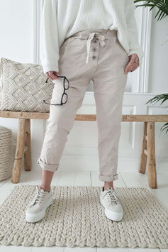 Perfect Jeans Joggers buttons beige