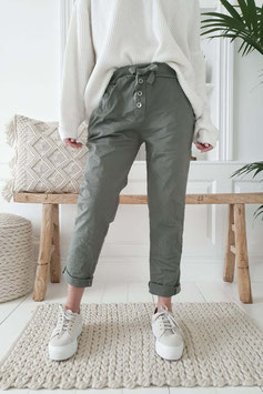 Perfect Jeans Joggers buttons green
