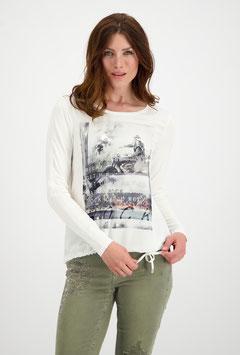 monari Off-White Blusenshirt mit Print