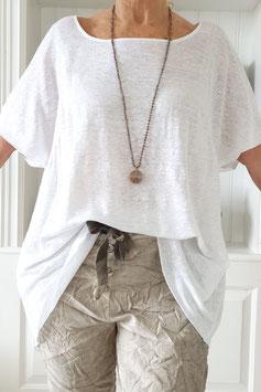 Zen Leinen-Shirt, weiß