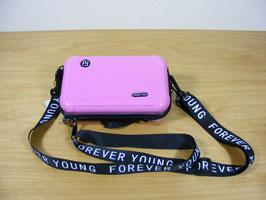 Mini-Hartschalentasche in pink