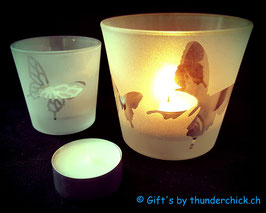 Teelichtglas Schmetterling