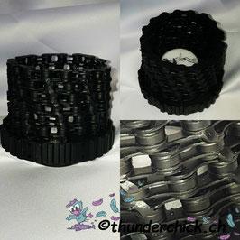 Metall-Kerzenhalter Kette schwarz