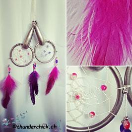 Deko-Trense Traumfänger pink/violett