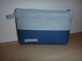 Kosmetik klein Linen hellblau/blau
