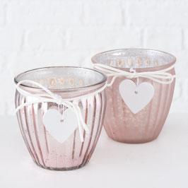 Teelicht rosa Herz