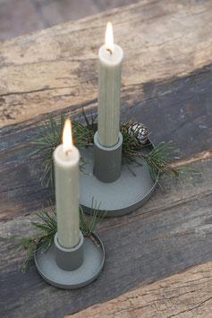 Kerzenhalter staubig grün gross oder klein