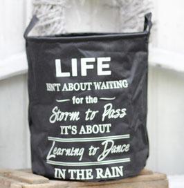 Wäschekorb schwarz Life