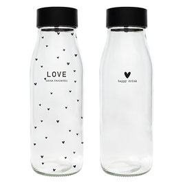 Glas Flasche Love oder Herz