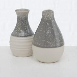 Vase hell grau weiss