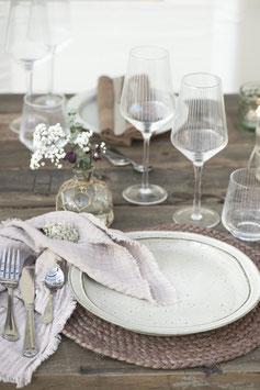 Weinglas streifen