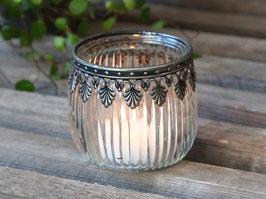 Teelicht glas Metall spitze