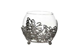 Windlicht Glas Schmetterling