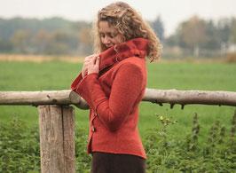 Jacke gewalkte Wolle terracotta