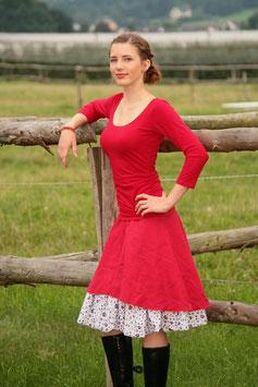 Jerseyshirt Ballettshirt gerafft rot