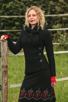 Jacke gewalkte Wolle schwarz