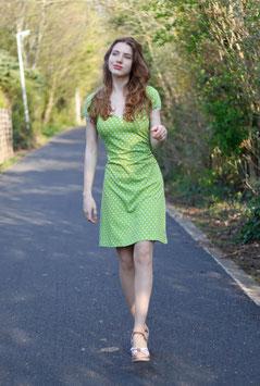 Jerseykleid grün mit Tupfen