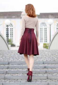 Taillenrock Korsagerock burgund