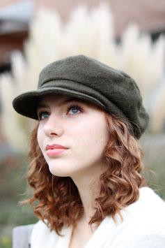 Schirmmütze Kappe aus Wolle oliv