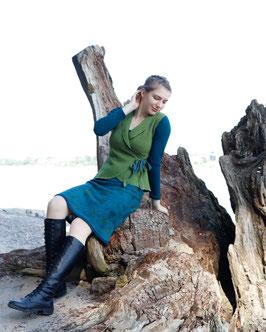 Wickelweste Merinowolle grün petrol