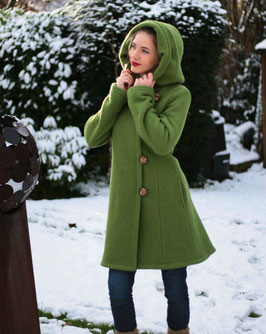 Wintermantel Wollmantel gefüttert apfelgrün