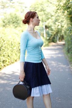 Jerseyshirt Ballettshirt gerafft hellblau