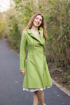 Leinenmantel hellgrün sommergrün