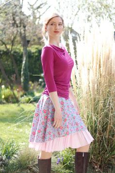 Rock lila rosa mit Blumenmuster -limitiert!-