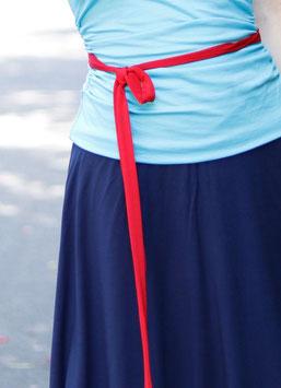Jerseyband Gürtelband rot