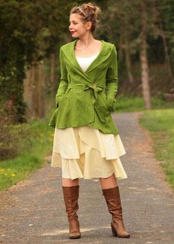 Kurzmantel Leinenjacke grün